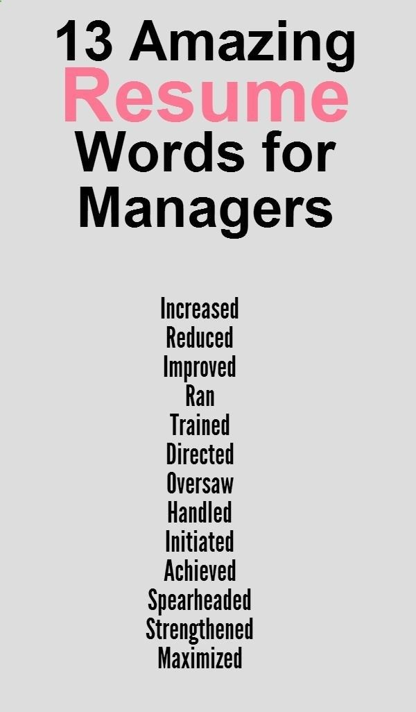 Great words to use on your resume. | Things to try | Pinterest