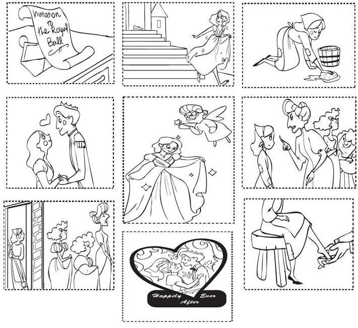 Cinderella sequencing pictures! Great for retelling! K.RL.2 (download free from education.com)