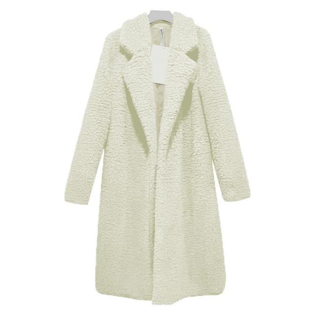 XXXL Autumn Winter Women long coat Simple turndown collar Woolen Coat Plus thick warm Tweed Outerwear Casacos femininos 2019 – K L