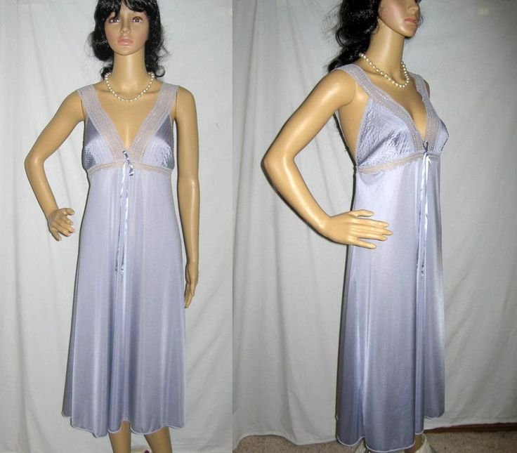 GORGEOUS Marvel Made in Italy Lavender Lilac Lace Nightgown S #Marvel #Gowns