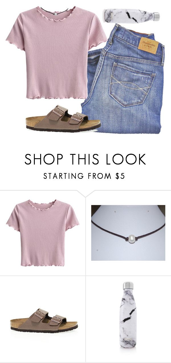 """""""i did so bad on my math test"""" by lorla3407 on Polyvore featuring Abercrombie & Fitch, Birkenstock and S'well"""