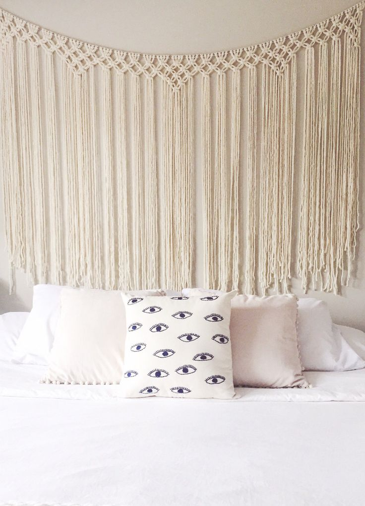 25 best macrame curtain ideas on pinterest how to. Black Bedroom Furniture Sets. Home Design Ideas