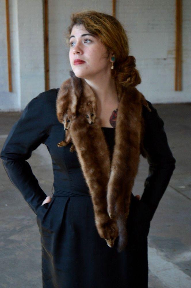 169 best vintage mink fox collars stoles images on for Kunstleder fur stuhle