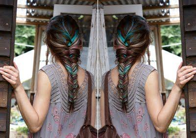 Free PeopleFish Tail, Hair Colors, Cool Hair, Dips Dyes, Long Hair, Blue Hair, Hair Style, Fishtail Braids, Cool Braids