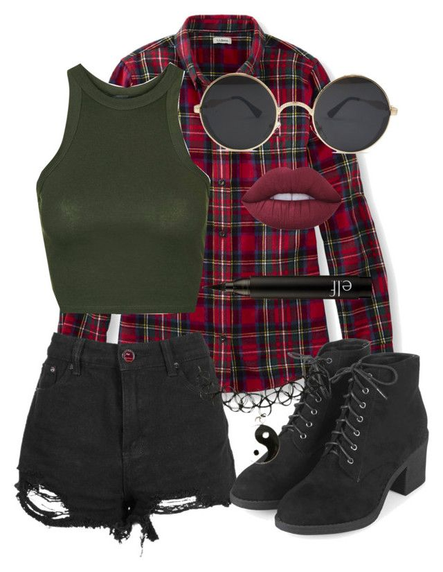 """Grunge Summer Cuz I'm a Bummer "" by cronas-bride ❤ liked on Polyvore featuring L.L.Bean, Topshop, Lime Crime and plus size clothing"