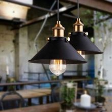 American industrial loft Vintage pendant lights for dining room iron black painted E27 Edison bulb home lamp(China (Mainland))