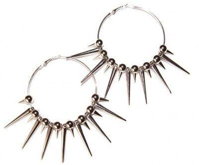 Kolczyki z Kolcami. Punk Rock. Spike. #earrings #kolczyki