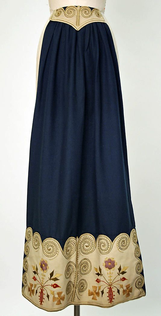 Apron, 1900–1940, Swedish, wool