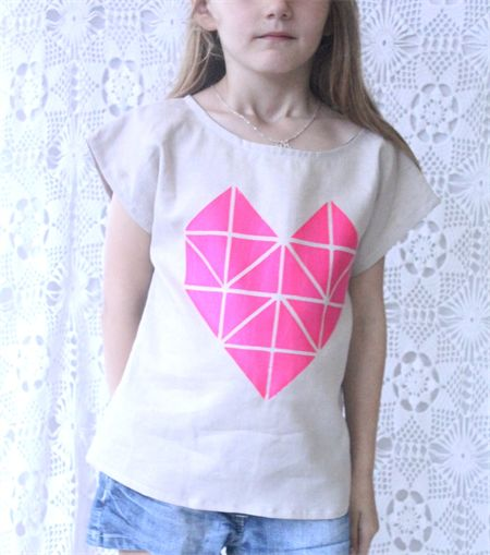 Size 7 - Girls Neon Screen Printed Holiday Top