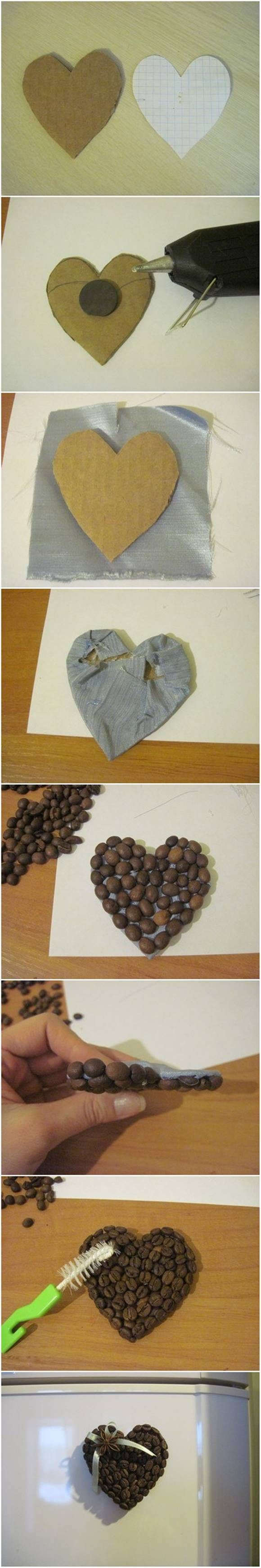 How to Make A Fridge Magnet from Coffee Beans #craft #decor #coffee_bean