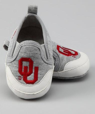 3c7b1442c Gray University of Oklahoma Booties