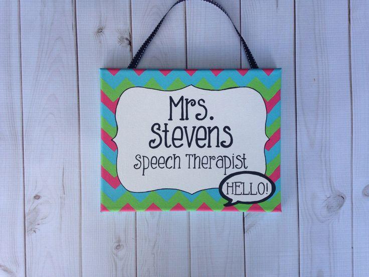 Speech Therapist Name Sign, Speecha Therapy Door Sign, Door Hanger, Office  Door Sign