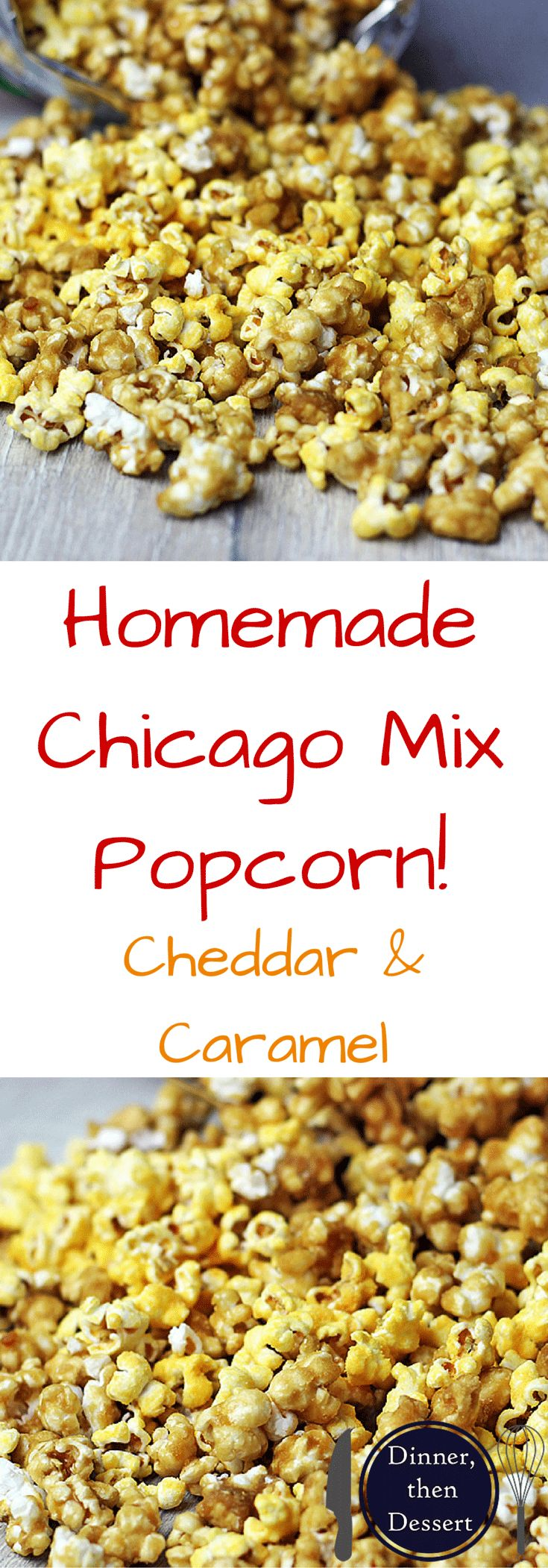 Salty & Sweet. Cheesy & Buttery! This mix of popcorns is a fantastic mix of flavors commonly referred to as Chicago Popcorn! You've seen it in popcorn stores and in pre-made bags, but now you can make it at home!