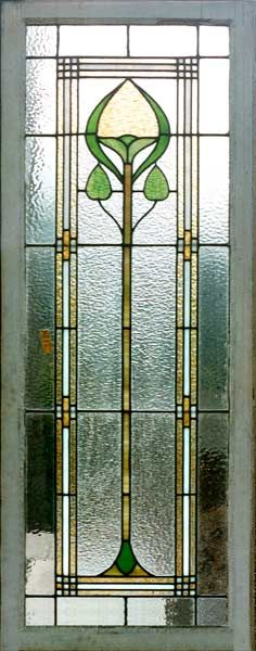 Easy to divide into 3 panels... but would want more colour arts and crafts style stained glass
