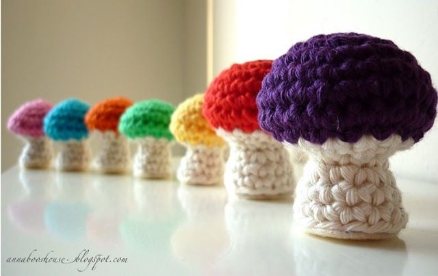 NEW! Annaboo's house. Mushrooms!  ☀CQ #crochet #crafts #DIY. Thanks so much for sharing!