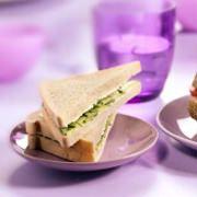 Komkommer-sandwich met verse kruidenkaas - recept - okoko recepten