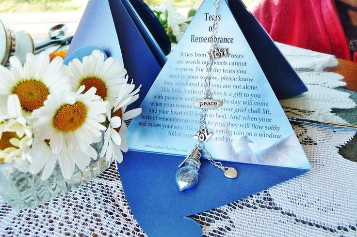 Tears of Remembrance from Captured Wishes. A perfectly balanced sympathy gift you can give to a grieving friend or relative
