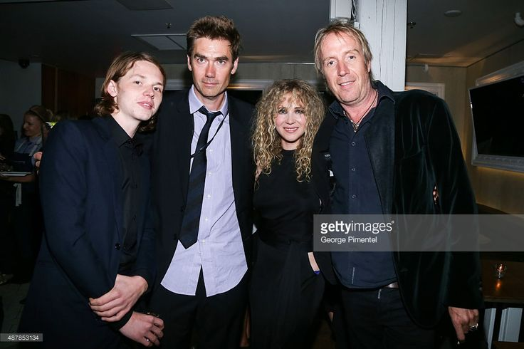 Actor Jack Kilmer, director Tim Godsall, and actors Juno Temple and Rhys Ifans attend the 'Len and Company' Party during the 2015 Toronto International Film Festival at Byblos on September 11, 2015 in Toronto, Canada.