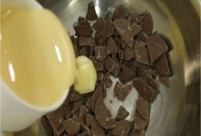 Ellas-Press: Ρίχνει κομμάτια σοκολάτας σε μια κατσαρόλα και προ...