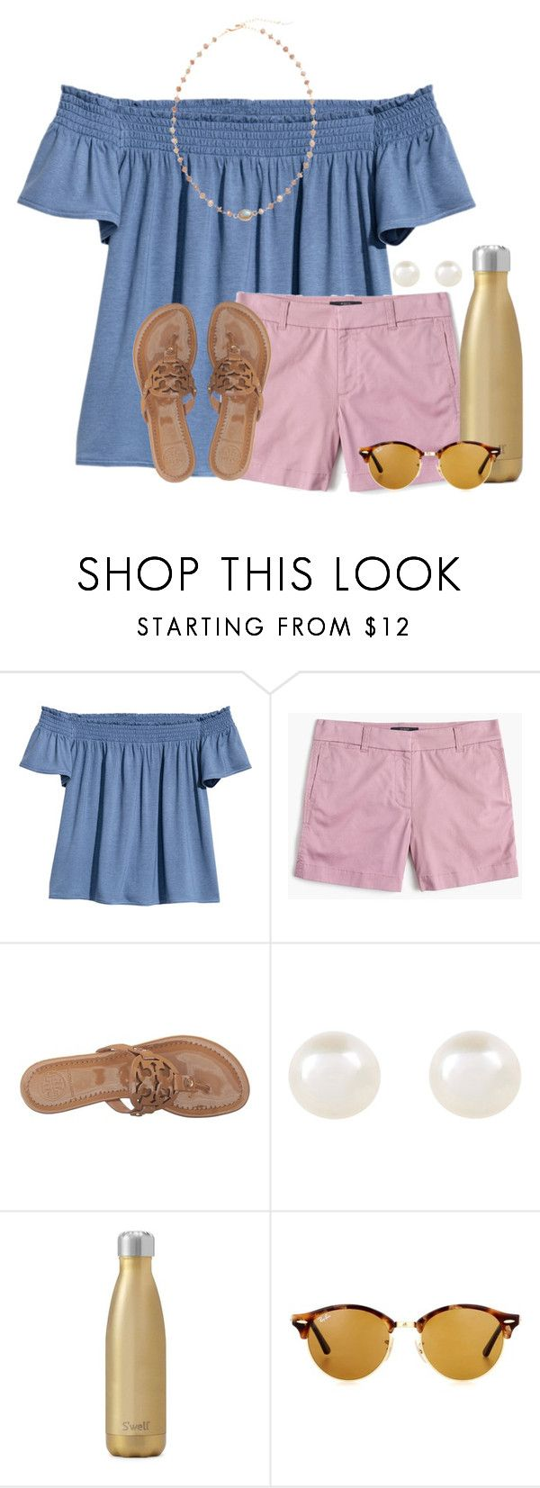 """""""~ pushing back the dark ~"""" by auburnlady ❤ liked on Polyvore featuring H&M, J.Crew, Tory Burch, Accessorize, West Elm, Ray-Ban and Ela Rae"""