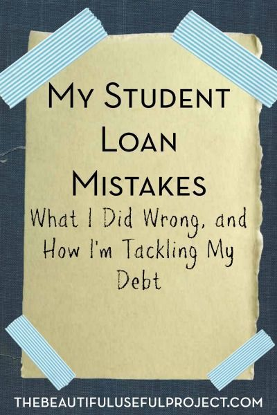 A big reason why I decided to start The Beautiful Useful Project was to make money by selling my stuff in order to pay off my student loan. While I don't regret going to graduate school, I do regret the way I've handled my student loan so far.  Here are some of the student loan … student loan debt student loan debt payoff #debt #studentloan