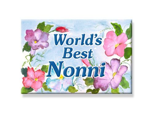 "DECO Worlds Best NONNI FRIDGE MAGNET Grandparent Names 2""x3"" DecorativeGreetings #DecorativeGreetingsInc #RefrigeratorFileMagnet"