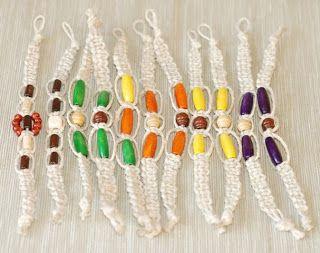 Makramé: Új makramé karkötők