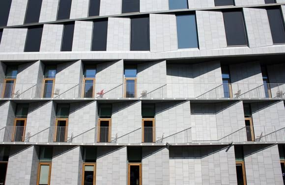 Patient Hotel at Rigshospitalet in Copenhagen by architects 3XN. Spotted by @missdesignsays