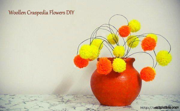 Цветы из помпонов для создания цветочной композиции…