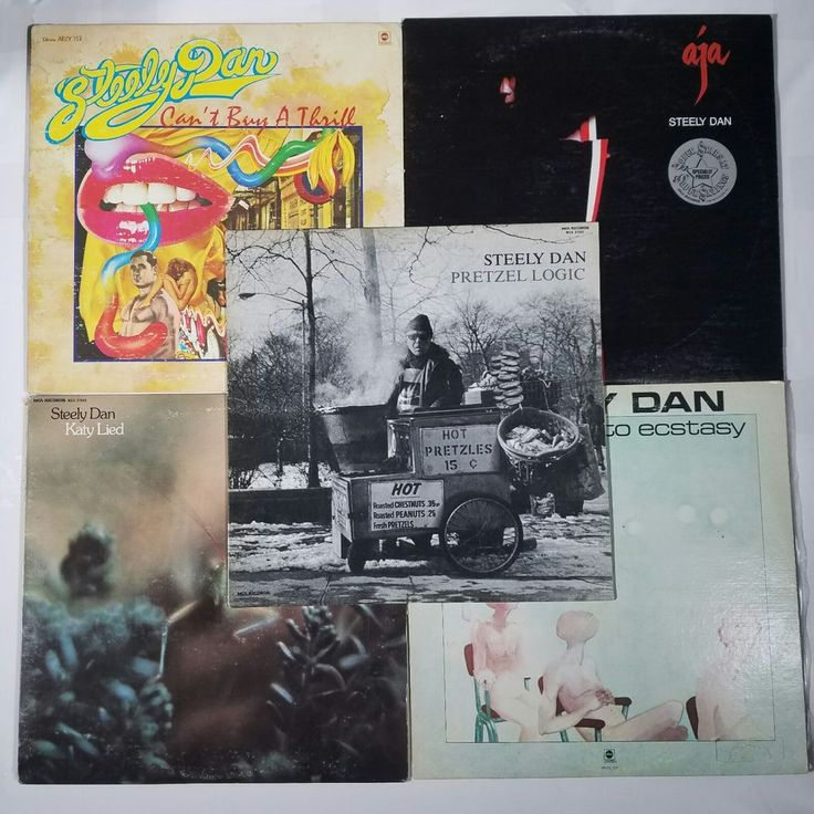 Steely Dan 5 Vinyl LP Records Pretzel Logic Can't Buy A Thrill Katy Lied aja  M1