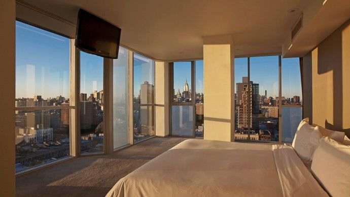 Hotel on Rivington: Suites at the Hotel on Rivington have panoramic floor-to-ceiling windows and great views of the city.