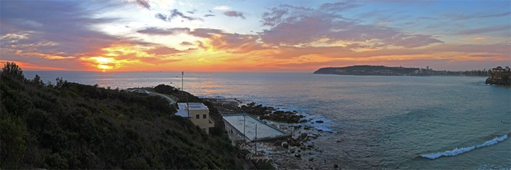 Today's sunrise over Freshwater on Sydney's Northern Beaches