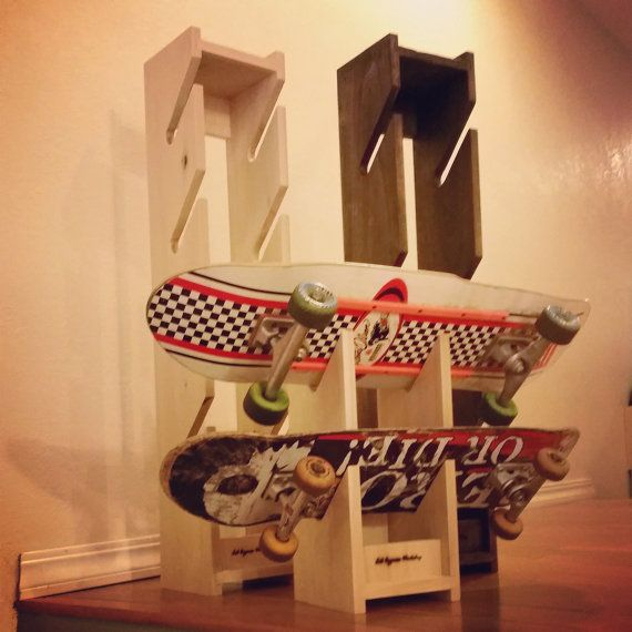 Skateboard Storage Rack & 13 best images about Idéias on Pinterest | Longboards Wall mount ...