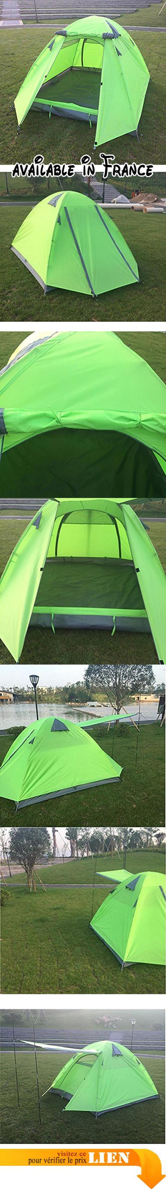 B075LLKVVR : Tente de Camping Familiale 3-4 Personnes - Impermable Ventile et Durable. Le paquet contient: 1 tente  accessoires. Double couche haute qualitšŠ šŠtanche facile š installer. Dimension --- 200  (80  200  80)  110cm;. Tente de camping impermšŠable et portable de haute qualitšŠ idšŠale pour la randonnšŠe le voyage le camping et autres activitšŠs de plein air. Veuillez noter que votre appareil pourrait šºtre endommagšŠ en