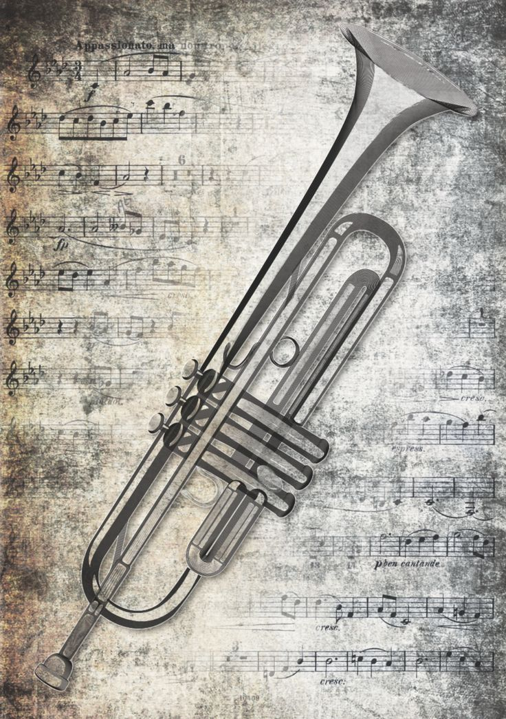 Trumpet with background notes