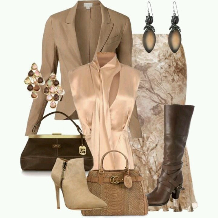 Flattering trumpet skirt w/ versatile accessories