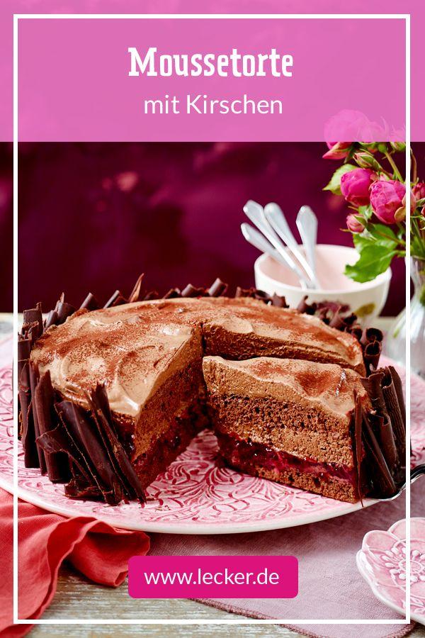 Moussetorte Mit Kirschen Rezept Kolaci Pinterest Muffins