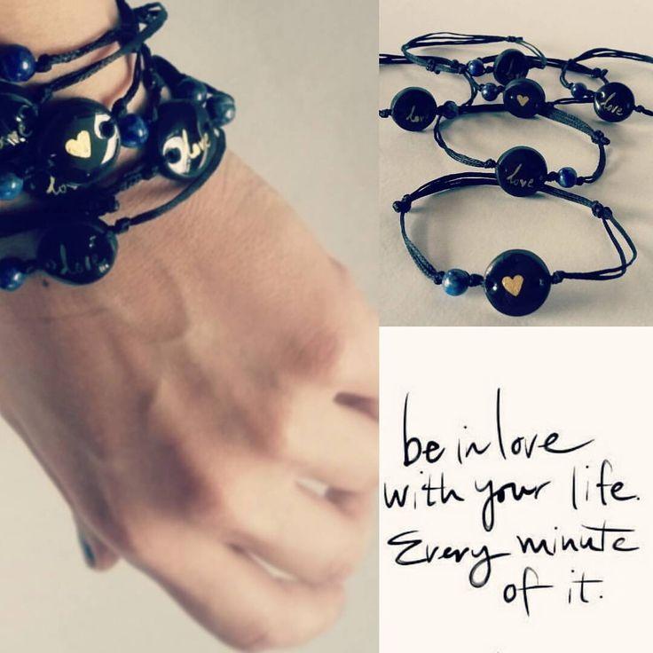 "lookaticons: ""Handmade bracelets by L_L.♡ #handmade#handpainted#bracelets#gold#heart#be#in#love#accessories#jewelry#jewelrydesigner#greekdesigners#semiprecious#stone #lapislazuli """