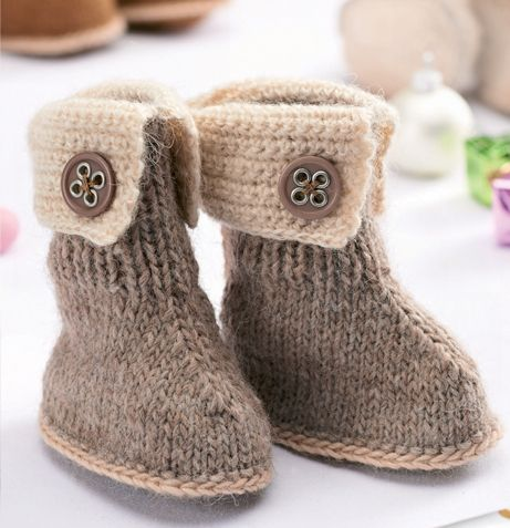 knitted snow boots