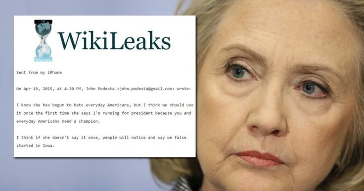 WikiLeaks Bombshell, Hillary Campaign Manager: She Hates Everyday Americans