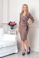 zomer stijl nieuwe mode zomer rokken 2015 slanke rok vestidos toevallige slanke volledige mouw v hals knie lengte vrouwen sets
