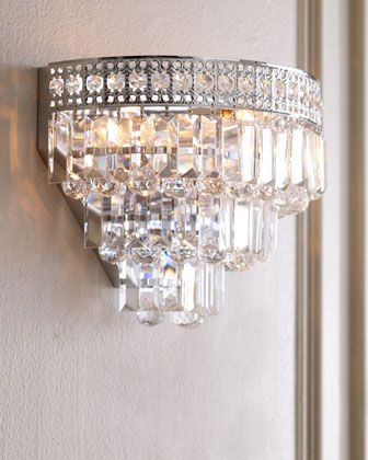 Crystal Wall Sconce at Horchow for the reading nook.  #DeckYourHalls, #Novogratz, #Soundfreaq