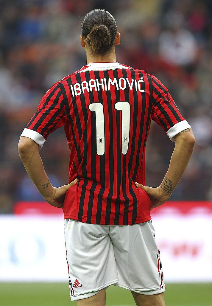 Zlatan Ibrahimovic Of Ac Milan Gestures During The Serie A Match