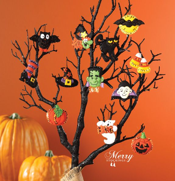 halloween felt ornament kit - Halloween Tree Decorations
