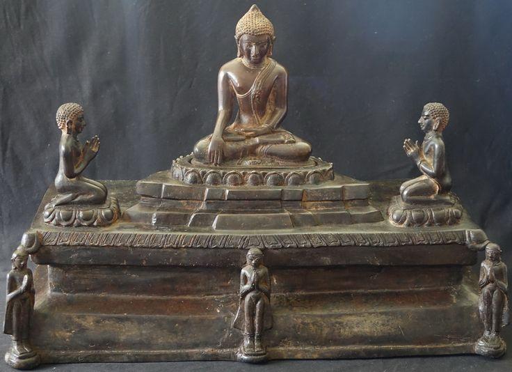Burmese Bronze Pagan Buddhist Shrine