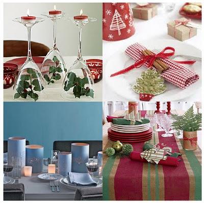 9 melhores imagens de decoraci n de mesas navide as no for Decoracion navidena artesanal