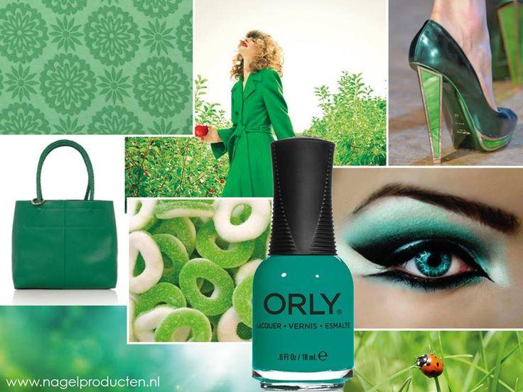 Zo groen als gras met ORLY Green With Envy! Verkrijgbaar in nagellak, mani mini en GELFX.