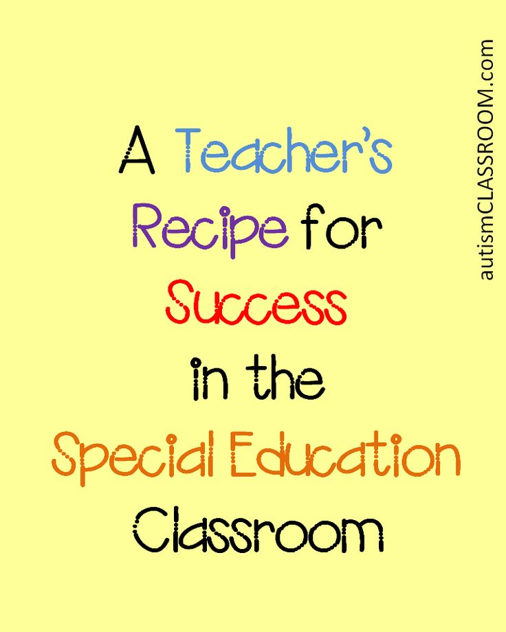 A teacher's recipe for success in the Special Education Classroom.