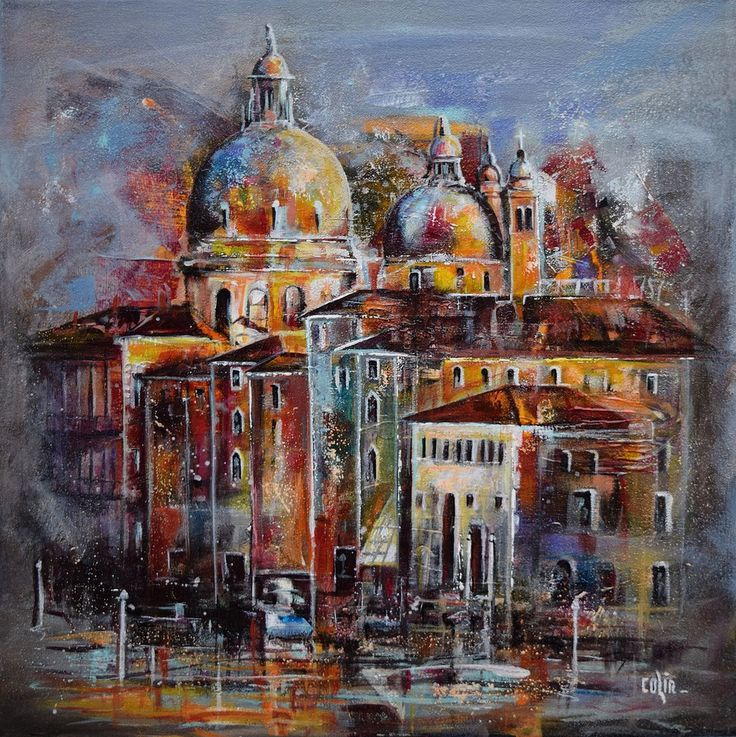 Mystère à Venise : acrylique sur toile 50x50 280€