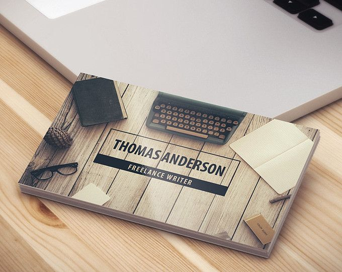 Modern Professional Freelance Writer Business Cards Template [PSD | INSTANT DOWNLOAD]